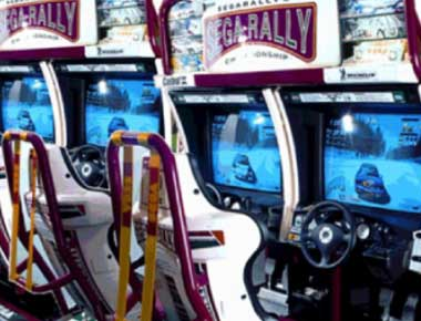 Image of Twin Sega Rally Arcade Machines