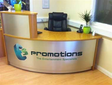 Image of the main reception area at ES Promotions