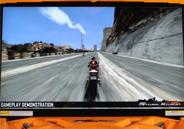 Screenshot of Motorbike racing on storm rider arcade machine