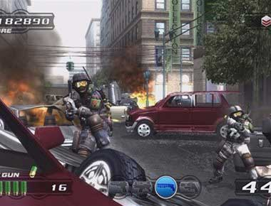 Screenshot of Time Crisis Arcade Game