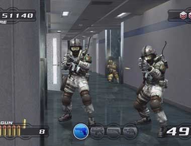 Screenshot from Time Crisis Computer game