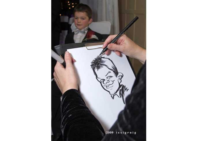 Caricaturist Drawing