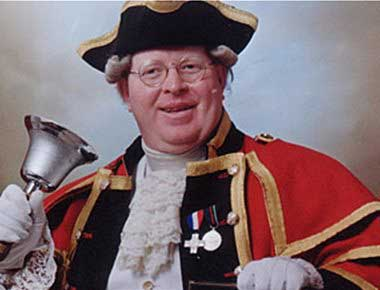 Town Crier in costume