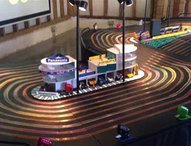 8 lane scalextric set