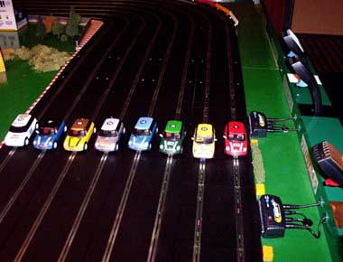 eight lane scalextric hire
