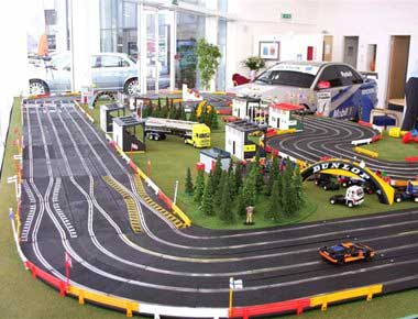 Hire 6 lane Scalextric set