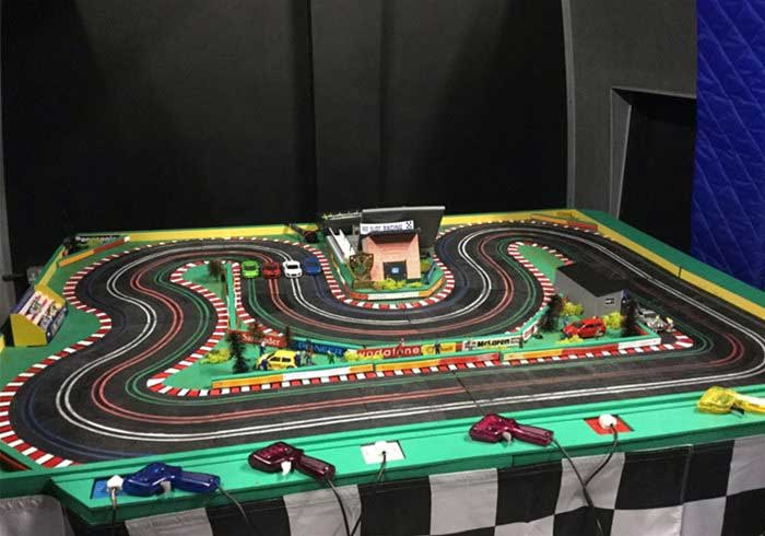 Giant Scalextric for hire