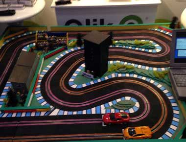 2 lane scalextric set