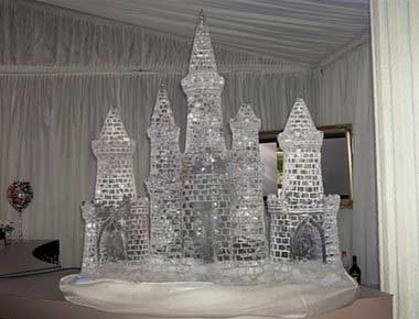 An image of a castle ice sculpture