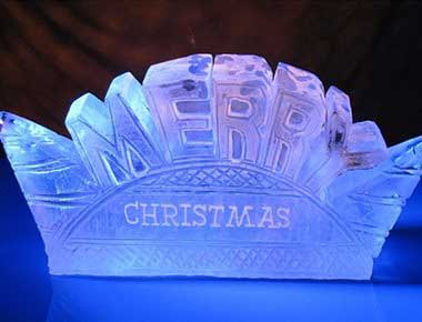 A nice christmas ice sculpture