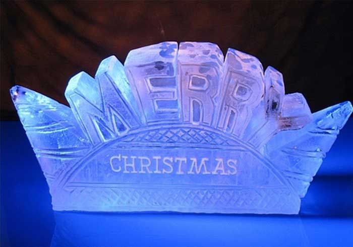 Christmas Ice Luge Sculptures