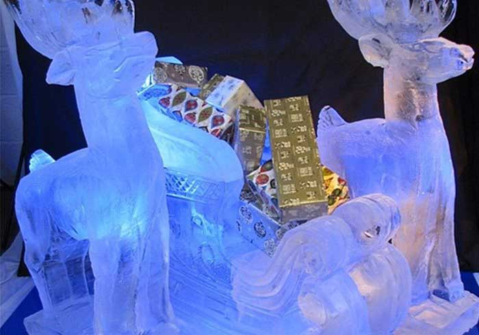 Christmas Ice Luge Sculptures Hire For Parties Es