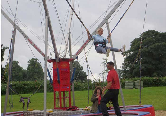 Four bed bungee trampolines