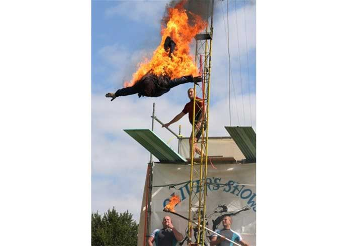 Hi Diving man in flames