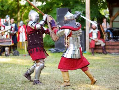 Medieval Battle at an event