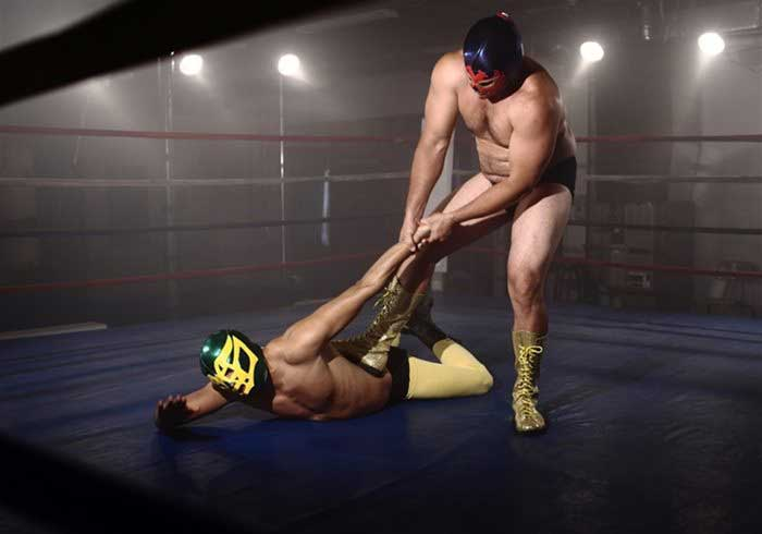 Two Wrestlers fighting