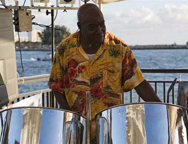 Steel band player