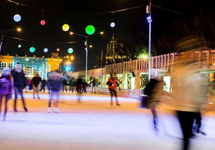 Skaters at Ice Rink