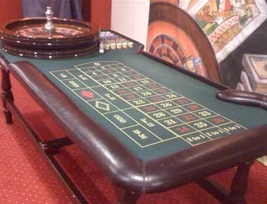 Casino table at team building event