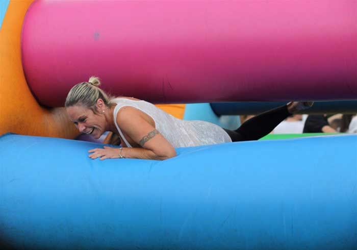 Inflatable games for team building