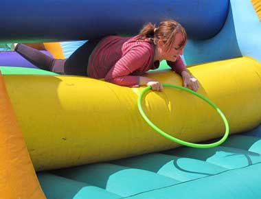 Fun inflatable games