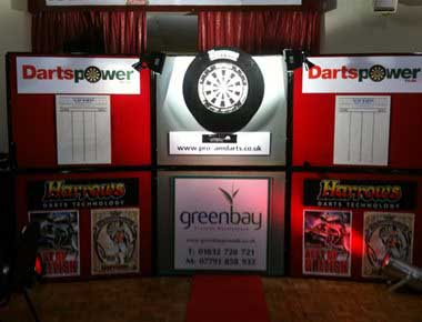 Exhibition darts set up
