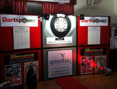 Hire darts exhibition