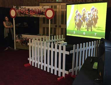 Race Night projector and screen