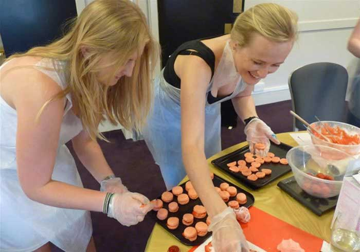 Ladies decorating Cupcakes