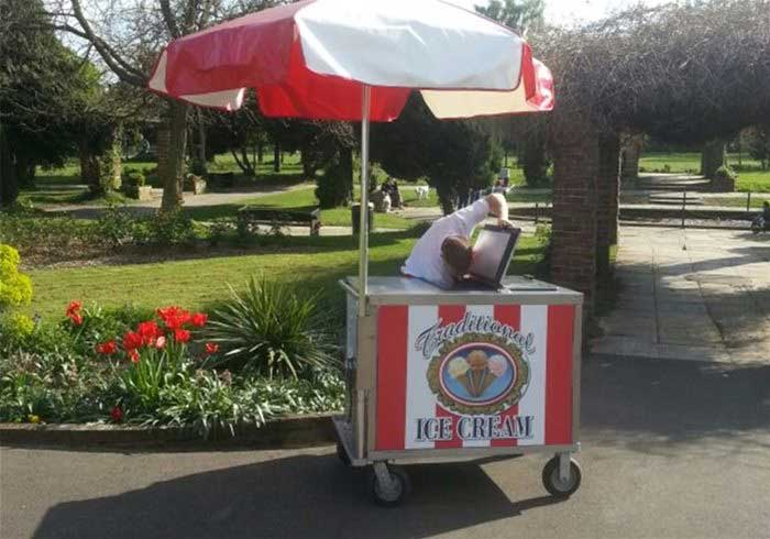 Mobile Ice Cream Cart