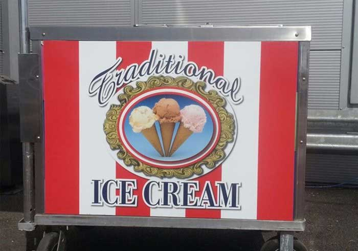 Traditional Ice Cream Cart