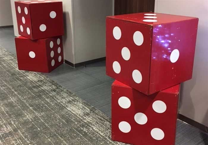 Giant Dice Props