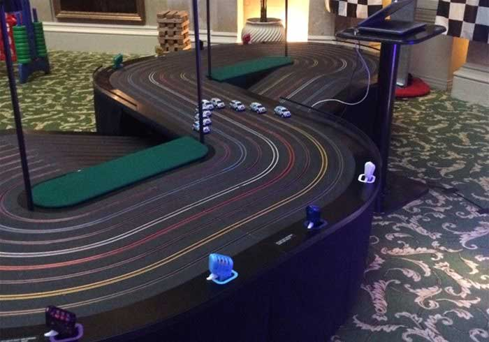 Eight lane Scalextric
