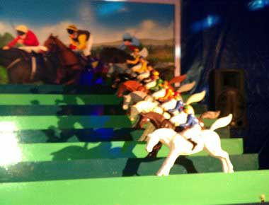 Roll a ball seaside horse racing game