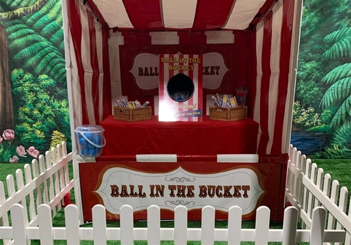 Hire Ball In Bucket Side Stall
