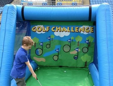 Hire inflatable target golf game
