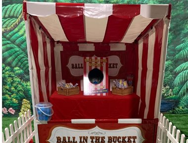 Ball in Bucket Fairground Game