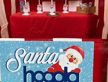 Santa Hoopla Side Stall for Hire