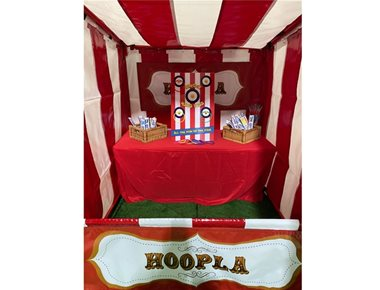 Hoopla Funfair side stall
