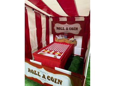 Hire Roll A Coin Funfair Side Stall