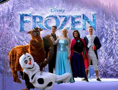 The cast from Frozen promotion