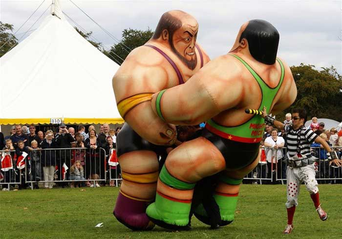 Inflatable Giant Fighting Show