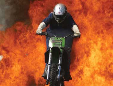 Motorcycle Fire Stunt