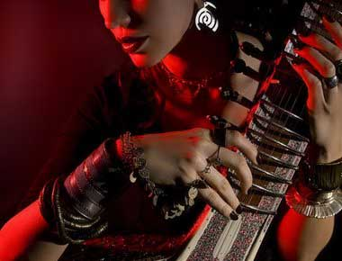 Female Indian Sitar player