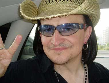 A lookalike of the singer Bono