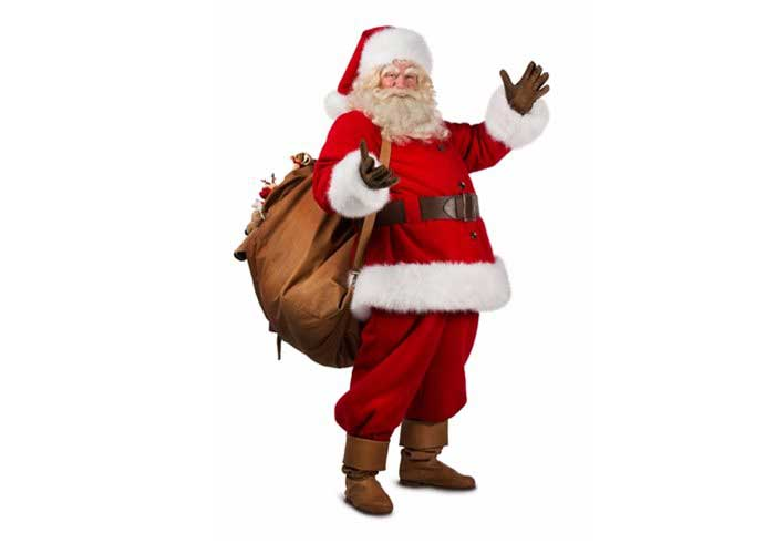 Father Christmas with bag