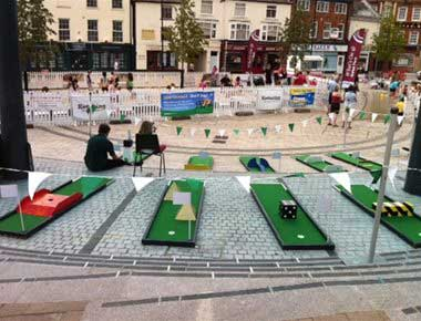 Crazy Golf at an event