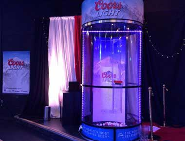 Cyclone Cylinder at a drinks promotion
