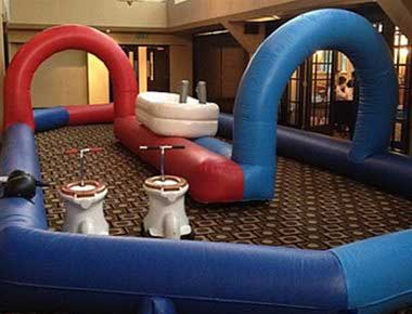 Hire Loo Racing Inflatable and toilets