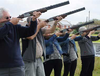 Outdoor Laser Clay Pigeon Shooting